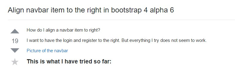 Line up navbar item to the right in Bootstrap 4 alpha 6
