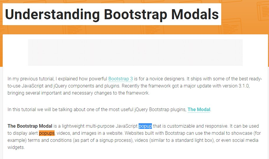 Yet another useful article  concerning Bootstrap Modal Popup
