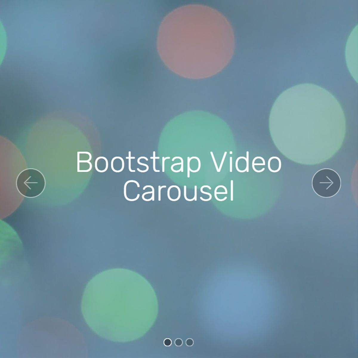 HTML5 Bootstrap Photo Slideshow